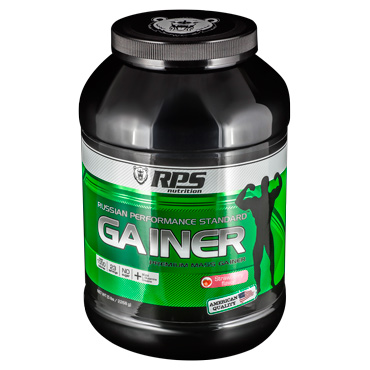 Гейнер RPS Nutrition вкус Клубника. Premium Mass Gainer RPS Nutrition Strawberry Flavor, банка 2268г